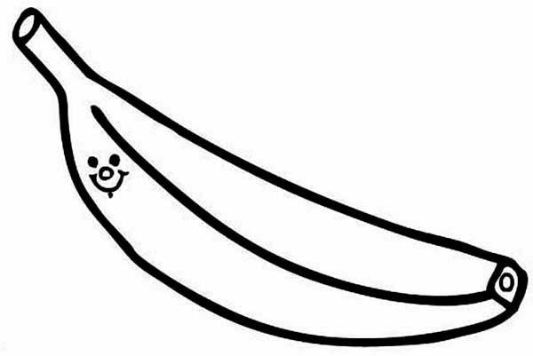 Hình vẽ đen trắng quả chuối cho bé tô màu (1)