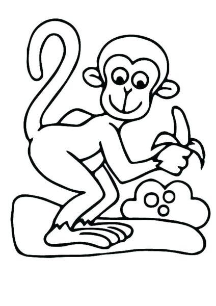 Hình vẽ đen trắng quả chuối cho bé tô màu (7)