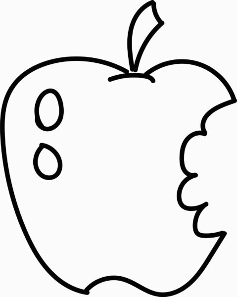 Fresh Easy Fruit Coloring Pages Design for Apple Coloring Pages