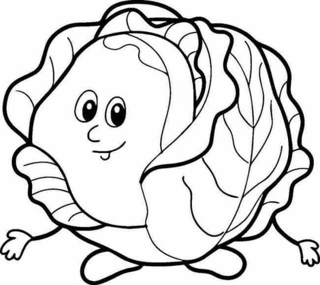 Hình vẽ đen trắng rau củ quả cho bé tô màu (4)