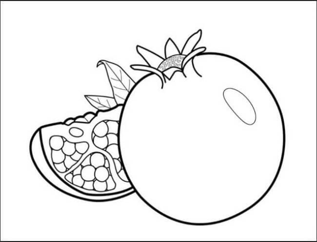 Hình vẽ đen trắng rau củ quả cho bé tô màu (5)