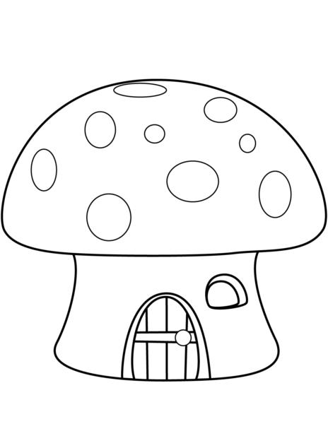 Hình vẽ tập tô cây nấm (3)