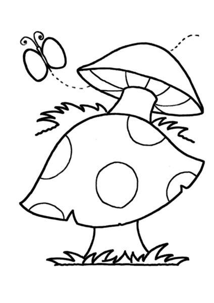 Hình vẽ tập tô cây nấm (4)