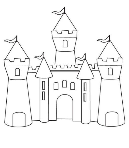 Hình vẽ tập tô lâu đài cho bé tô màu (1)