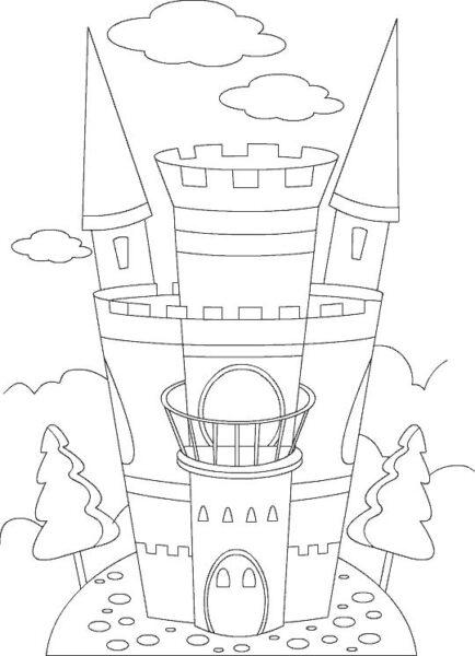 Hình vẽ tập tô lâu đài cho bé tô màu (4)
