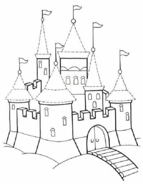 Hình vẽ tập tô lâu đài cho bé tô màu (5)