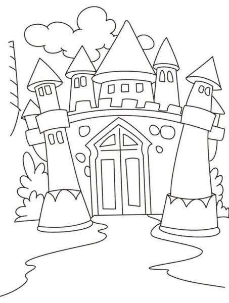 Hình vẽ tập tô lâu đài cho bé tô màu (6)