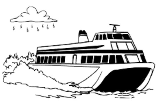 Hình vẽ tập tô tàu thuỷ (2)