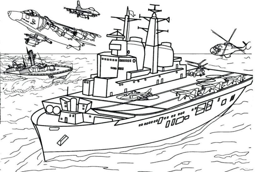 Hình vẽ tập tô tàu thuỷ (3)
