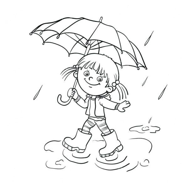 Hình vẽ tập tô trời mưa cho bé tô màu (1)