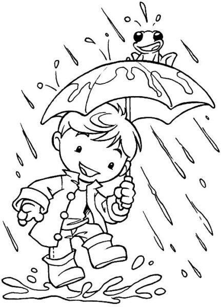 Hình vẽ tập tô trời mưa cho bé tô màu (2)
