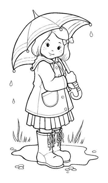 Hình vẽ tập tô trời mưa cho bé tô màu (3)