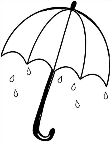 Hình vẽ tập tô trời mưa cho bé tô màu (7)