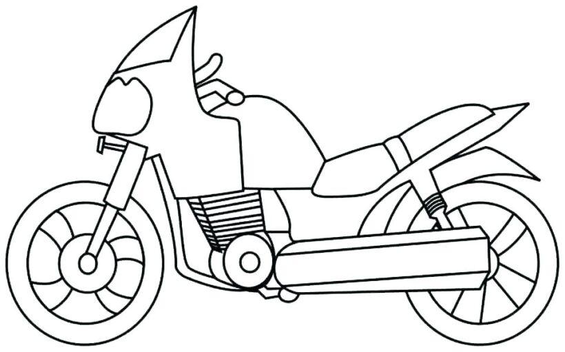 Hình vẽ tập tô xe máy cho bé tô màu (2)