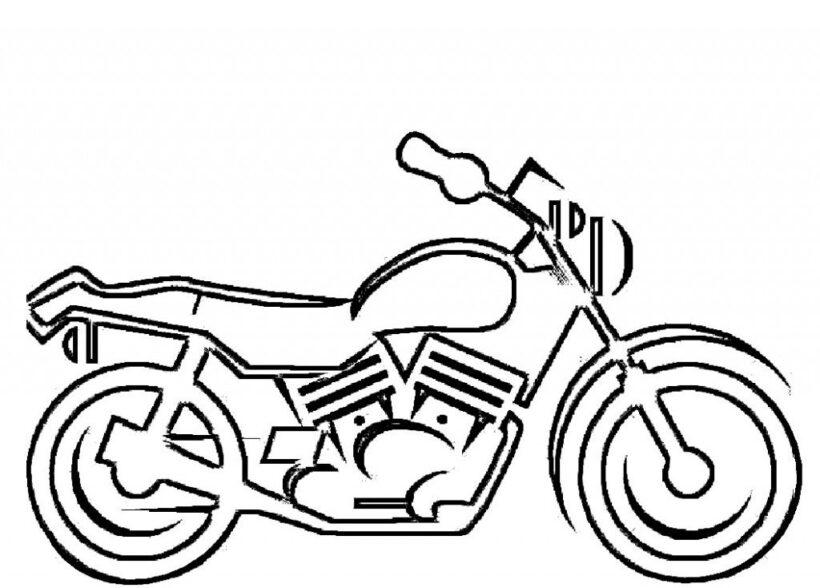 Hình vẽ tập tô xe máy cho bé tô màu (3)