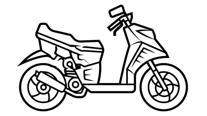 Hình vẽ tập tô xe máy cho bé tô màu (8)