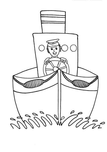 Hình vẽ tô màu thuyền buồm cho bé tô màu (1)