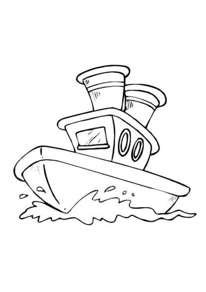 Hình vẽ tô màu thuyền buồm cho bé tô màu (3)