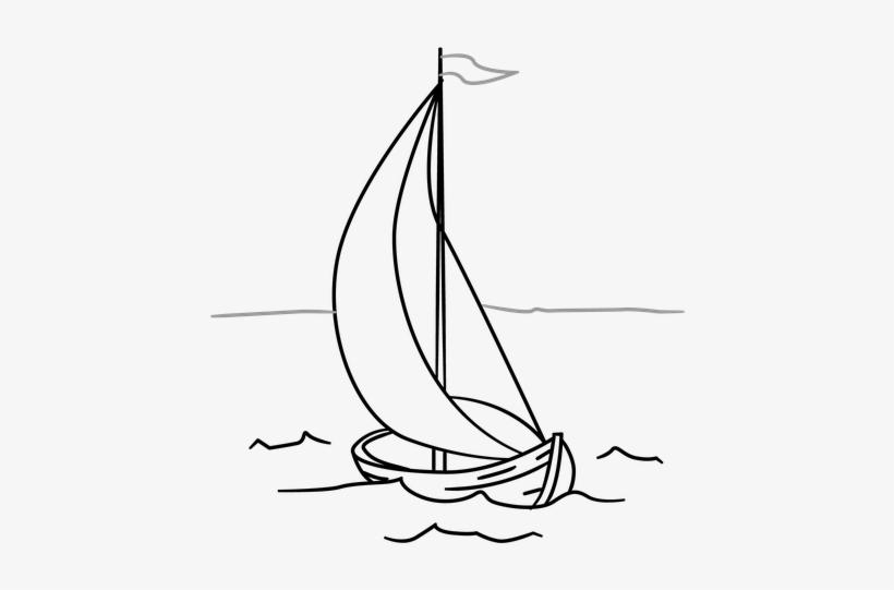 Hình vẽ tô màu thuyền buồm cho bé tô màu (5)