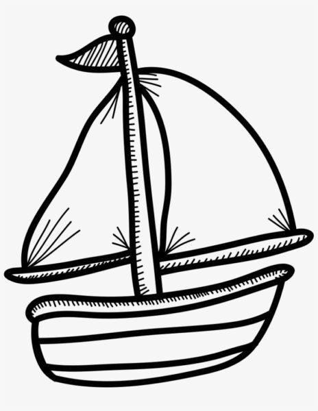 Hình vẽ tô màu thuyền buồm cho bé tô màu (6)