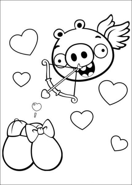 Mẫu tranh tô màu Angry Birds dễ thương cho bé tập tô (1)