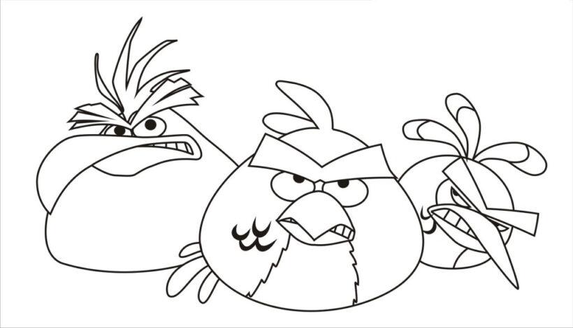 Mẫu tranh tô màu Angry Birds dễ thương cho bé tập tô (5)