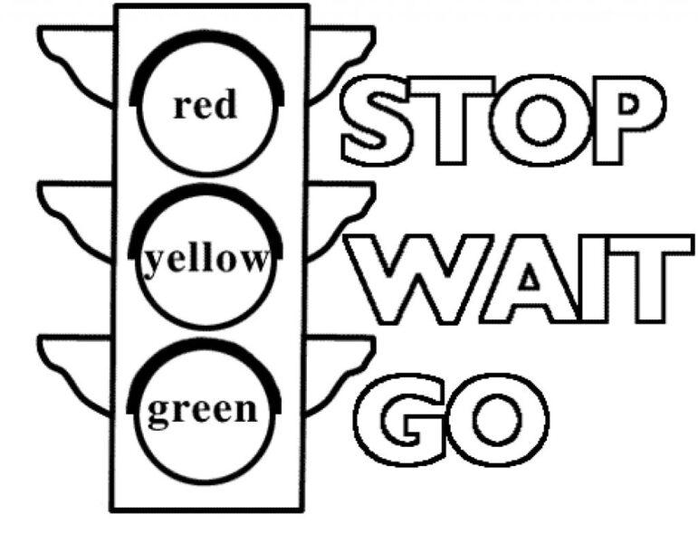 Mẫu tranh tô màu biển báo giao thông cho bé tô màu (5)