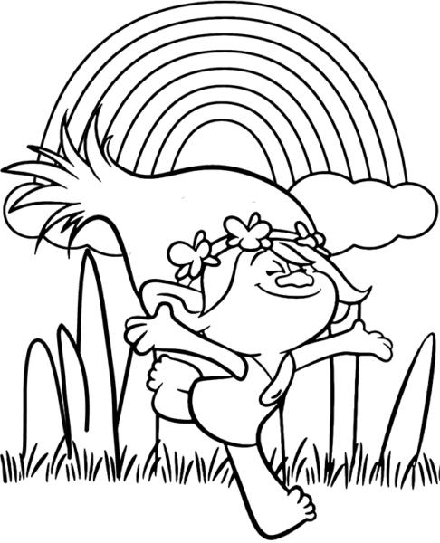 Mẫu tranh tô màu cầu vồng dễ thương cho bé tập tô (1)