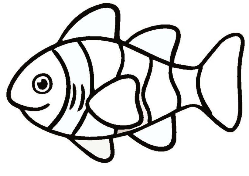 Mẫu tranh tô màu chú cá vàng đẹp cho bé tập tô (4)