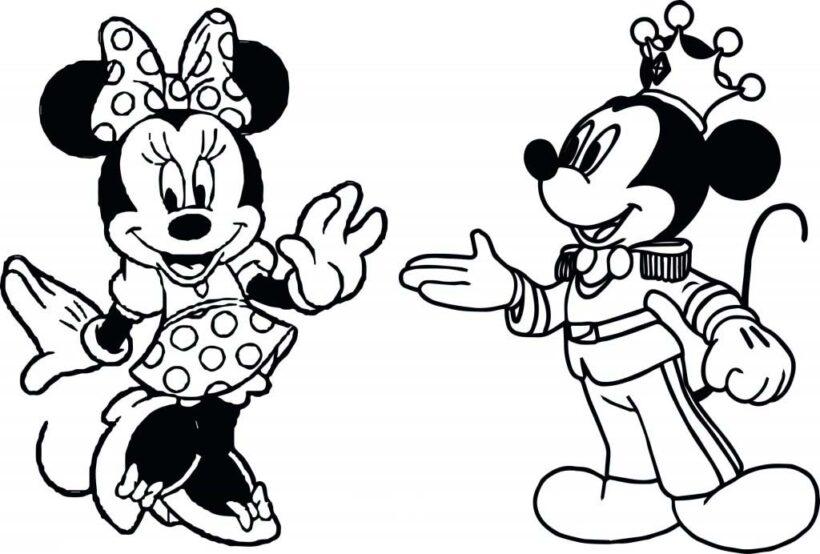 Hinh anh hai con chuot va chuot Mickey - tranh to mau