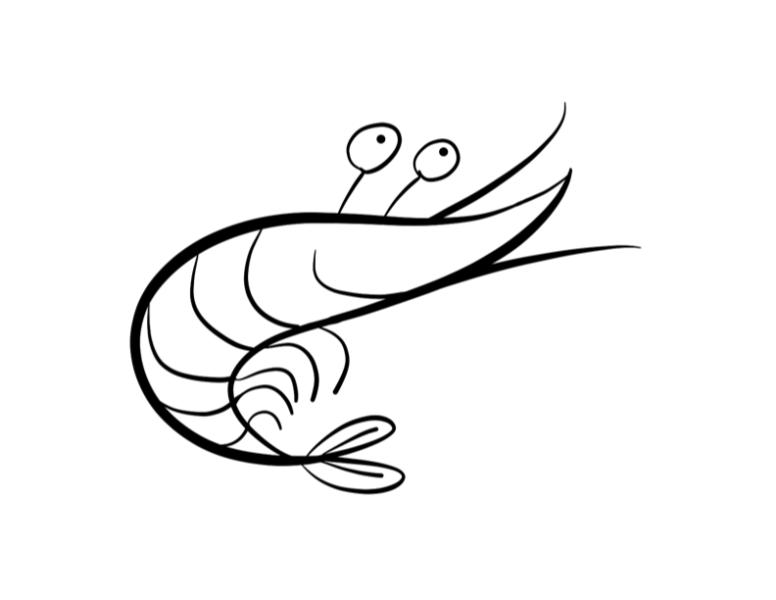 Mẫu tranh tô màu con tôm cho bé tập tô (4)