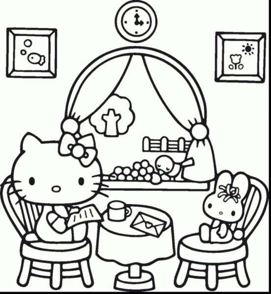 Hello Kitty Coloring Pages for Toddlers   way5m