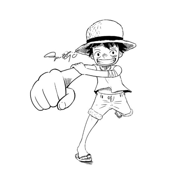 Mẫu tranh tô màu One Piece đẹp nhất cho bé tập tô (3)