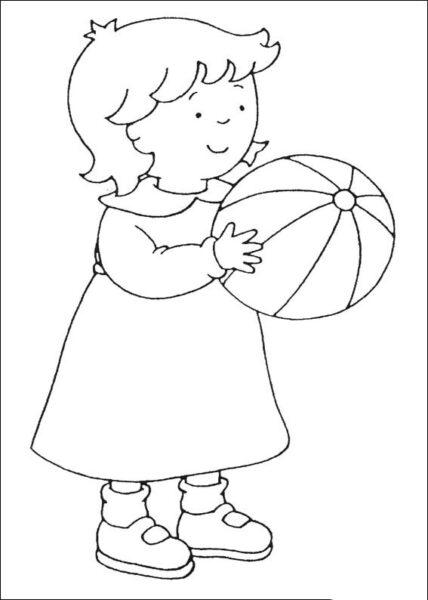 Mẫu tranh tô màu quả bóng đẹp cho bé tập tô (5)