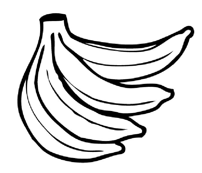 Mẫu tranh tô màu quả chuối cho bé tập tô (1)