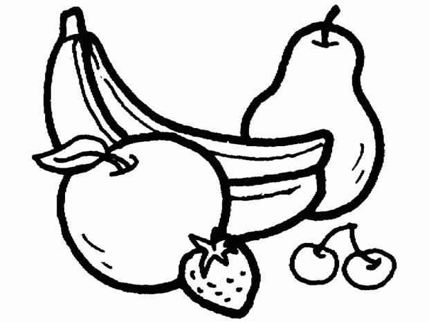 Mẫu tranh tô màu quả chuối cho bé tập tô (2)