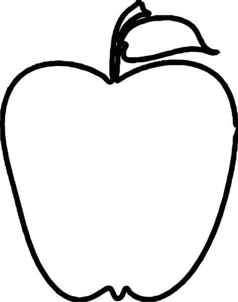 Mẫu tranh tô màu quả táo đơn giản cho bé tập tô (1)