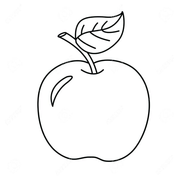 Mẫu tranh tô màu quả táo đơn giản cho bé tập tô (3)