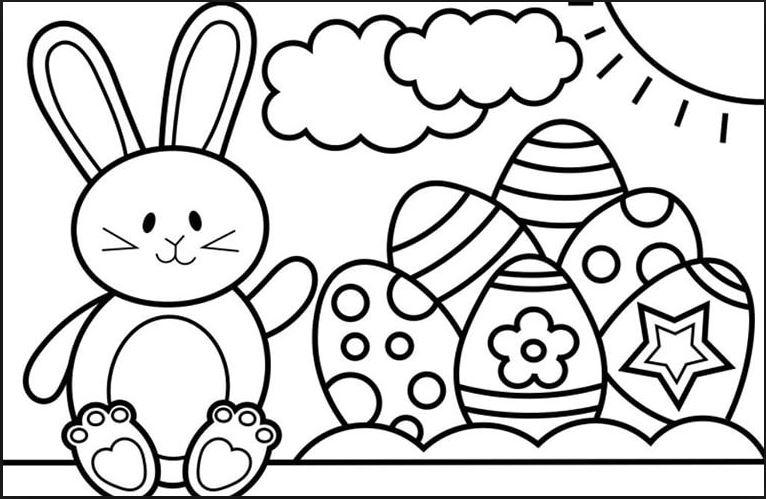 Mẫu tranh tô màu quả trứng đơn giản cho bé tập tô (22)