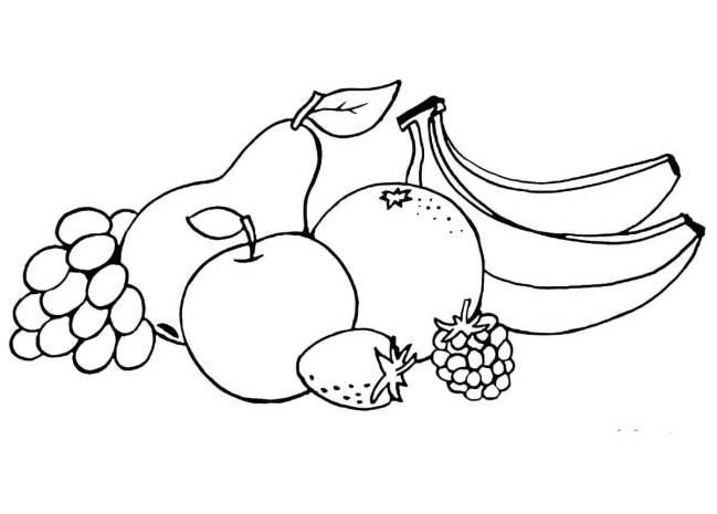 Mẫu tranh tô màu rau củ quả cho bé tập tô (1)