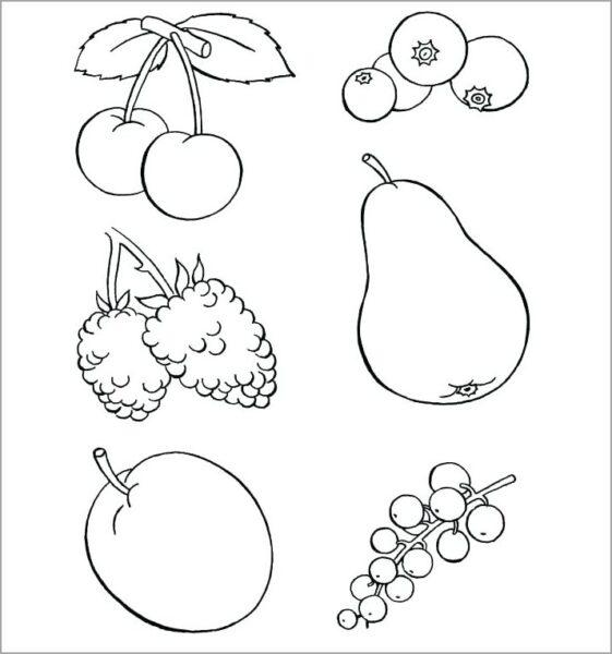 Mẫu tranh tô màu rau củ quả cho bé tập tô (3)