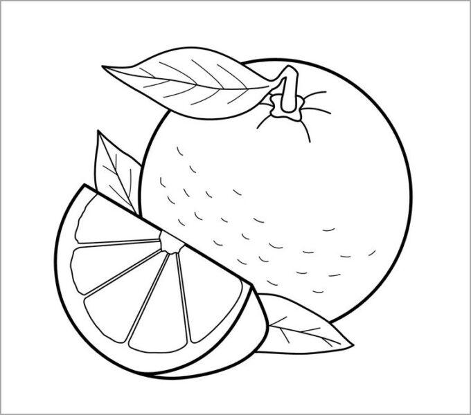 Mẫu tranh tô màu rau củ quả cho bé tập tô (5)