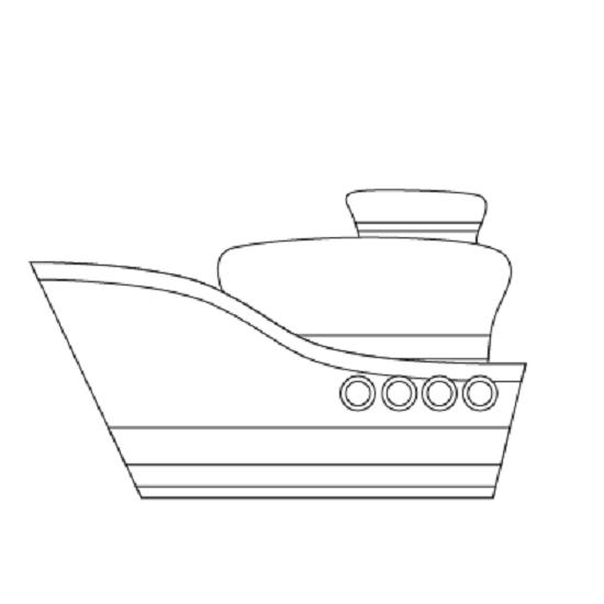 Mẫu tranh tô màu tàu thuỷ đẹp nhất cho bé tập tô (2)