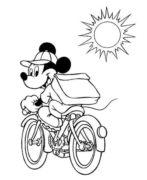 Mẫu tranh tô màu xe đạp cho bé tập tô (23)