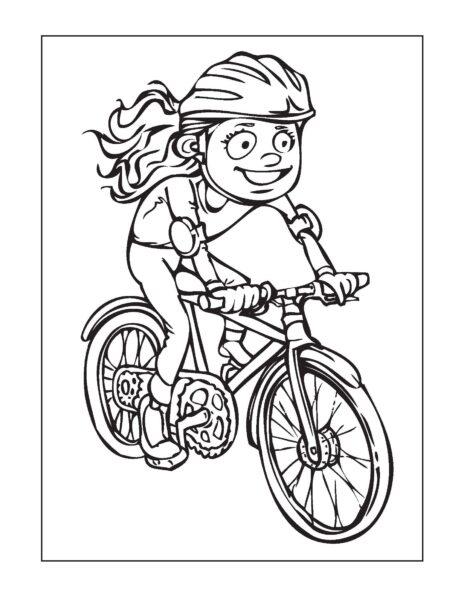 Mẫu tranh tô màu xe đạp cho bé tập tô (24)