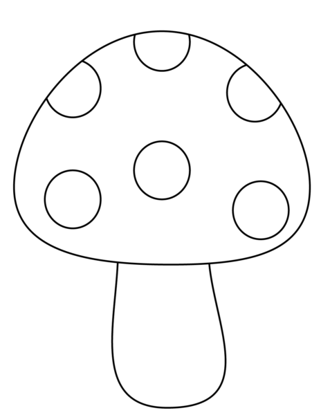 Mẫu tranh vẽ cây nấm cho bé tô màu (1)