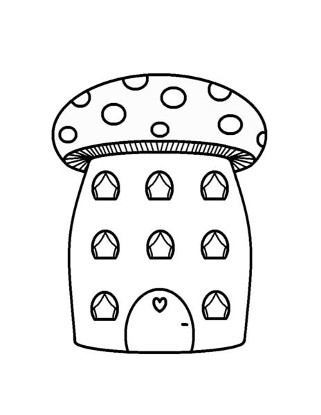 Mẫu tranh vẽ cây nấm cho bé tô màu (3)