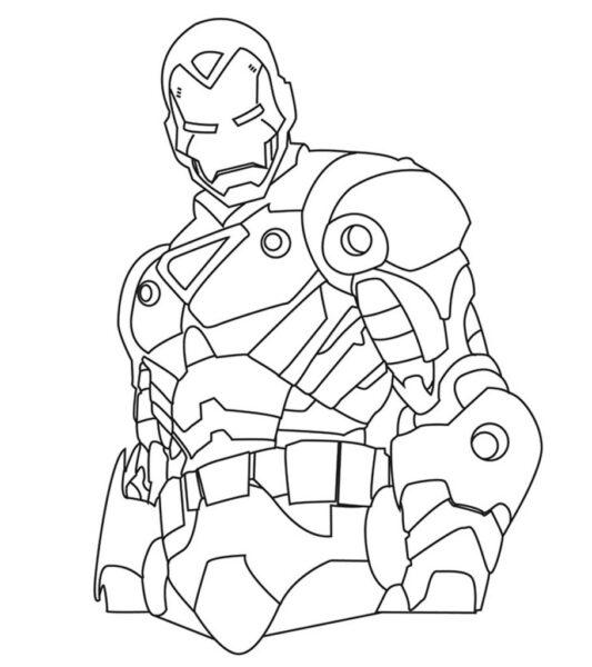 Người sắt tô màu Iron man