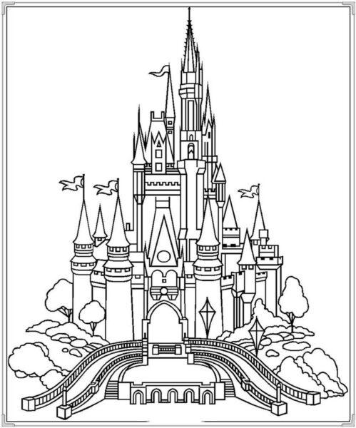 Tổng hợp các bức tranh tô màu lâu đài đẹp nhất