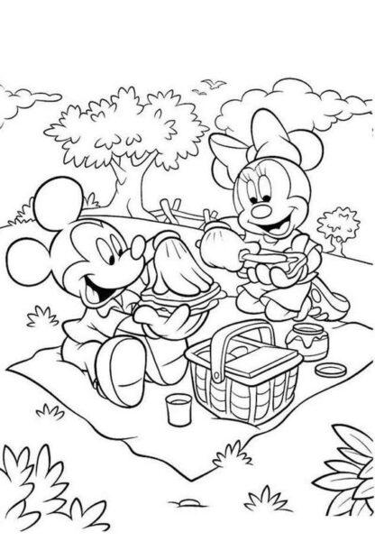 Những tranh tô màu chuột Mickey dễ thương cho bé tập tô (10)